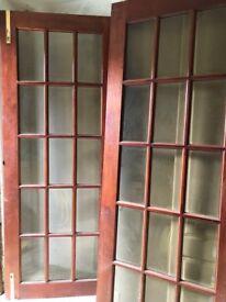 Internal hardwood folding doors