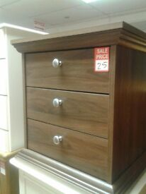 DARK OAK 3 DRAWER CHEST