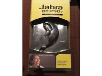 Jabra BT 250v cordless blue tooth headset with vibrating alert