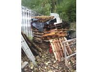 Free pallets perfect for firewood