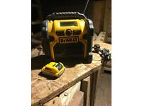 Dewalt DCR020 DAB Digital Site Radio - With Battery