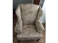 Wingback armchair - comfortable & in good condition