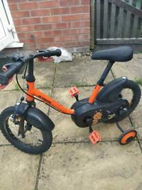 Children's bike with stainless. Age up to about 6/7