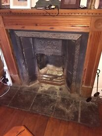 Victorian fire inset and surround