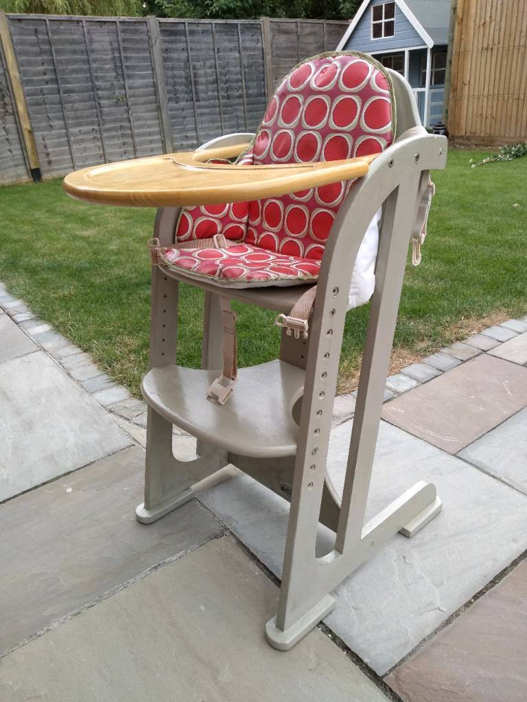 Painted Wooden High Chair Baby Weavers In Leatherhead Surrey