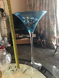 Large display martini glass