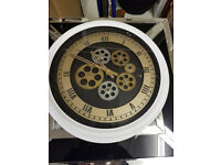White gears clock