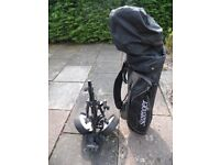 For Sale a set of 12 golf clubs / bag and caddy