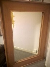 Very Large Oak Mirror