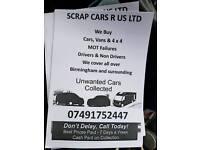 Scrap cars vans 4x4 wanted