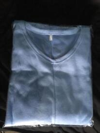 Light blue and navy jumpers size l