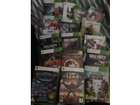 Xbox 360 console and 17 games