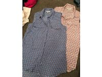 2 x Next Blouses no sleeves size 8/10