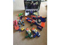 Nerf guns selection + Hover floating target