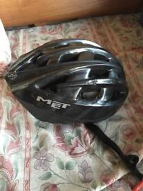 Black cycle helmet