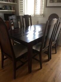 Lovely Lombok dining table and chairs
