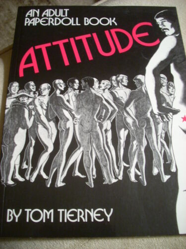 """ATTITUDE - An Adult PaperDoll Book by Tom Tierney"" RARE Original 1979 Copy NEW"