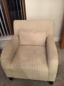 Natural Check Chair