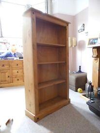 Mexican Solid Pine Medium 3 shelf Bookcase