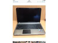 "HP 17"" Laptop - Win 10 - I7 - fully working - damaged screen"