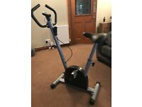 Exercise bike with digital dial