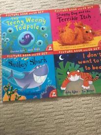 Bundle 4 children book and CDs