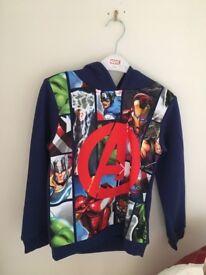 Boys Marvel Hoodie brand new, aged 5-6 years., never worn.