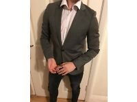 "34"" Chest Grey Suit Blazer"