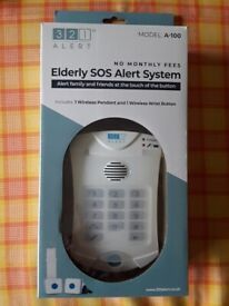 321 home alert system for elderly/isolated used.