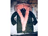 Boutique Maria Faux Fur Trim Parka [Coat]