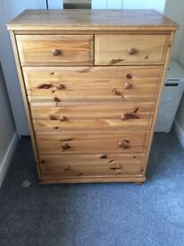 Solid Wood Chest of Drawers - good condition £50.00