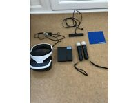 Playstation VR Headset, Camera & Motion controllers- hardly used