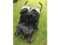 Maclaren double buggy. Suitable from birth.