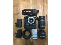 Canon 550d Camera with lenses and more