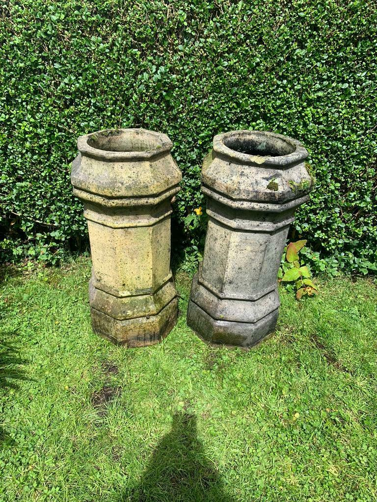 Pair Victorian Octagonal Chimney Pots In East End Glasgow Gumtree