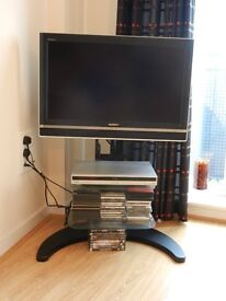 Sony Bravia TV with cd/dvd player/recorder and stand