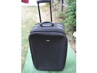 Large Primicia Expandable Black Fabric Suitcase with Telescopic Handle and Wheels for £12.00