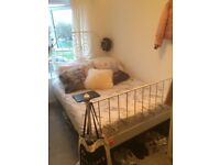 IKEA double bed frame in White.