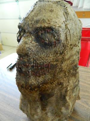 HALLOWEEN HORROR MOVIE PROP - Scarecrow Sack Killer Face Mask Hand Made (Handmade Halloween Props)
