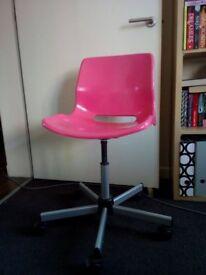Free pink ikea swivel desk chair