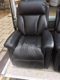 Lazy boy leather rising recliner
