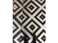 Large Black and white rug. IKEA 200x300