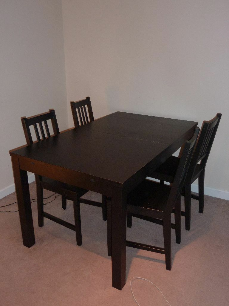 Ikea Bjursta dining table 140180220x84 cm 4 Steffan chairs