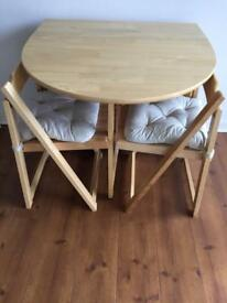 John Lewis Oak Dining table and 4 chairs