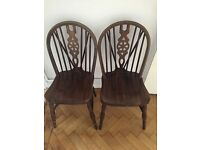 2 X wooden vintage chAirs