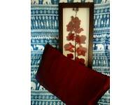 BEAUTIFUL FAUX FLOWER IN FRAME BY NEXT & MATCHING CUSHION