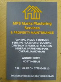 MPS Mark's Plastering Service's & Property Maintenance.