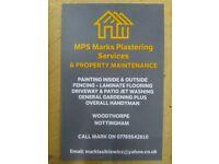 MPS Mark's Plastering Service's & Property Maintenance.