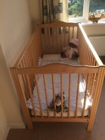 Baby Cot - traditional cot with matress