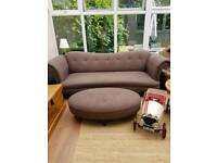 4 seater sofa and footstool